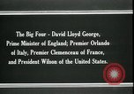 Image of David Lloyd George Paris France, 1919, second 9 stock footage video 65675026975