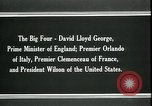 Image of David Lloyd George Paris France, 1919, second 11 stock footage video 65675026975