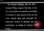 Image of Woodrow Wilson Nieuwpoort Belgium, 1919, second 3 stock footage video 65675026986