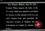 Image of Woodrow Wilson Nieuwpoort Belgium, 1919, second 4 stock footage video 65675026986