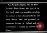 Image of Woodrow Wilson Nieuwpoort Belgium, 1919, second 5 stock footage video 65675026986