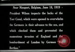 Image of Woodrow Wilson Nieuwpoort Belgium, 1919, second 8 stock footage video 65675026986