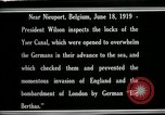 Image of Woodrow Wilson Nieuwpoort Belgium, 1919, second 9 stock footage video 65675026986