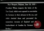 Image of Woodrow Wilson Nieuwpoort Belgium, 1919, second 10 stock footage video 65675026986