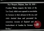Image of Woodrow Wilson Nieuwpoort Belgium, 1919, second 11 stock footage video 65675026986