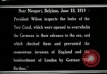 Image of Woodrow Wilson Nieuwpoort Belgium, 1919, second 12 stock footage video 65675026986