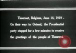 Image of Woodrow Wilson Thourout Belgium, 1919, second 2 stock footage video 65675026991