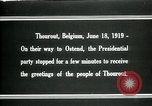 Image of Woodrow Wilson Thourout Belgium, 1919, second 4 stock footage video 65675026991