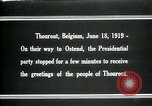 Image of Woodrow Wilson Thourout Belgium, 1919, second 5 stock footage video 65675026991