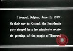 Image of Woodrow Wilson Thourout Belgium, 1919, second 6 stock footage video 65675026991