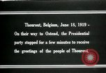 Image of Woodrow Wilson Thourout Belgium, 1919, second 7 stock footage video 65675026991