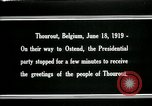 Image of Woodrow Wilson Thourout Belgium, 1919, second 8 stock footage video 65675026991
