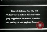 Image of Woodrow Wilson Thourout Belgium, 1919, second 9 stock footage video 65675026991