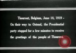 Image of Woodrow Wilson Thourout Belgium, 1919, second 11 stock footage video 65675026991