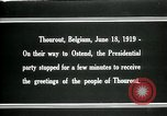 Image of Woodrow Wilson Thourout Belgium, 1919, second 12 stock footage video 65675026991