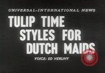 Image of Dutch models Holland Netherlands, 1954, second 1 stock footage video 65675026997