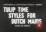 Image of Dutch models Holland Netherlands, 1954, second 2 stock footage video 65675026997