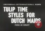 Image of Dutch models Holland Netherlands, 1954, second 3 stock footage video 65675026997