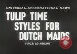 Image of Dutch models Holland Netherlands, 1954, second 4 stock footage video 65675026997