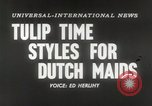 Image of Dutch models Holland Netherlands, 1954, second 5 stock footage video 65675026997