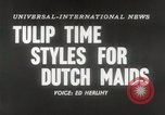 Image of Dutch models Holland Netherlands, 1954, second 6 stock footage video 65675026997