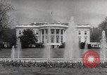 Image of President Eisenhower Washington DC White House USA, 1954, second 6 stock footage video 65675027006