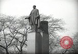 Image of President Wilson's statue Czechoslovakia, 1938, second 9 stock footage video 65675027045