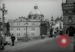 Image of old buildings Prague Czechoslovakia, 1938, second 9 stock footage video 65675027048