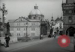 Image of old buildings Prague Czechoslovakia, 1938, second 10 stock footage video 65675027048