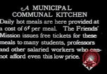Image of Municipal Communal kitchen Vienna Austria, 1923, second 8 stock footage video 65675027114