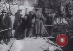 Image of Soldiers and workers at a construction site Russia, 1917, second 10 stock footage video 65675027132