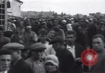 Image of crowded market street Russia, 1937, second 9 stock footage video 65675027138