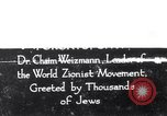 Image of Doctor Chaim Weizmann Toronto Ontario Canada, 1938, second 1 stock footage video 65675027152