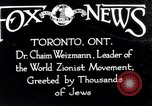 Image of Doctor Chaim Weizmann Toronto Ontario Canada, 1938, second 2 stock footage video 65675027152