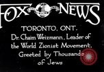 Image of Doctor Chaim Weizmann Toronto Ontario Canada, 1938, second 3 stock footage video 65675027152