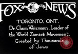 Image of Doctor Chaim Weizmann Toronto Ontario Canada, 1938, second 4 stock footage video 65675027152
