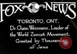 Image of Doctor Chaim Weizmann Toronto Ontario Canada, 1938, second 5 stock footage video 65675027152