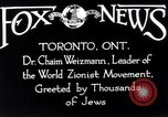 Image of Doctor Chaim Weizmann Toronto Ontario Canada, 1938, second 7 stock footage video 65675027152