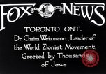 Image of Doctor Chaim Weizmann Toronto Ontario Canada, 1938, second 8 stock footage video 65675027152