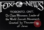 Image of Doctor Chaim Weizmann Toronto Ontario Canada, 1938, second 10 stock footage video 65675027152