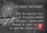 Image of General Allenby Jerusalem Palestine, 1918, second 2 stock footage video 65675027169