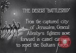 Image of General Allenby Jerusalem Palestine, 1918, second 3 stock footage video 65675027169