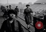 Image of British women employed in a factory United Kingdom, 1915, second 4 stock footage video 65675027184
