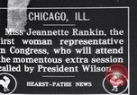 Image of Jeannette Rankin Chicago Illinois USA, 1917, second 1 stock footage video 65675027191
