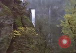 Image of Waterfall seen from Amtrak train United States USA, 1985, second 7 stock footage video 65675027197