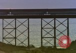 Image of Train on high trestle United States USA, 1985, second 12 stock footage video 65675027206