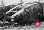 Image of British Mark I (male) tanks France, 1916, second 9 stock footage video 65675027226