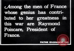 Image of Raymond Poincaré France, 1918, second 1 stock footage video 65675027273