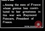 Image of Raymond Poincaré France, 1918, second 3 stock footage video 65675027273