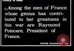 Image of Raymond Poincaré France, 1918, second 10 stock footage video 65675027273